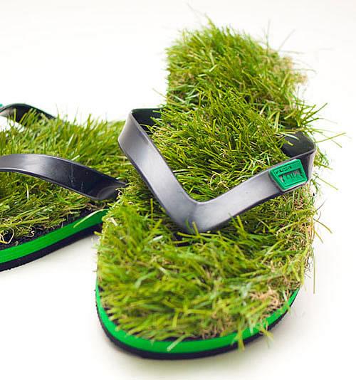 KUSA草拖鞋随时随地脚踩草地